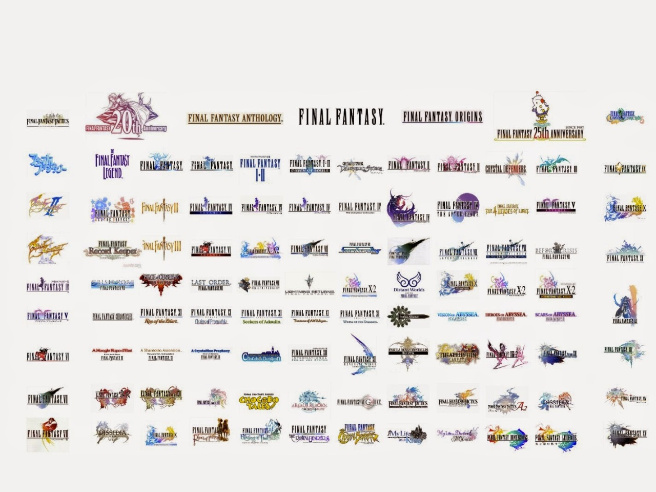 List of all Final Fantasy games released on Japan | FF MUSEUM